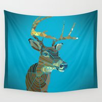 swag Wall Tapestries featuring Blue Stag Swag :) by ArtLovePassion