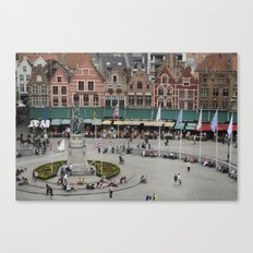 Bruges Main Square Canvas Print