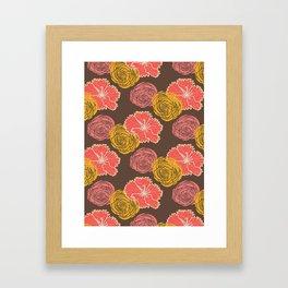 floral chocolate color Framed Art Print