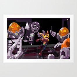 Ratchet & Clank Art Print