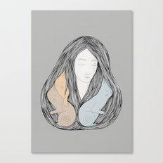 Catlady Canvas Print