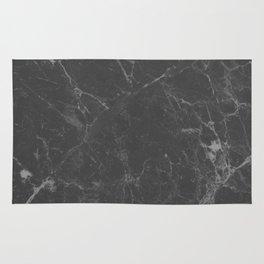 Marble Black Gray White Rug
