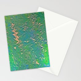 Irish Double Cabling Marbling Stationery Cards