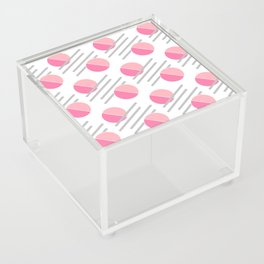 Modern Pink Circle Line Abstract Acrylic Box