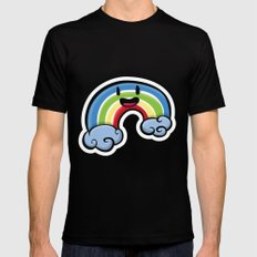 Over the Rainbow MEDIUM Mens Fitted Tee Black