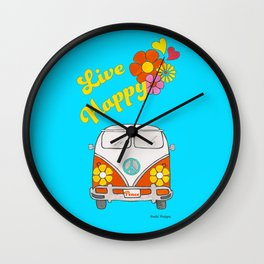 Live Happy Van Wall Clock