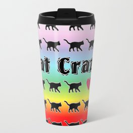 Cat Crazy Rainbow Travel Mug