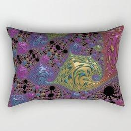 colorful fractal Rectangular Pillow