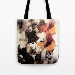 Bandwagon Abstract Portrait Tote Bag