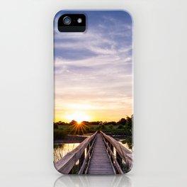 Sun Rays Over the Horizon iPhone Case