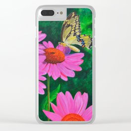 A Visitor In The Garden by Teresa Thompson Clear iPhone Case