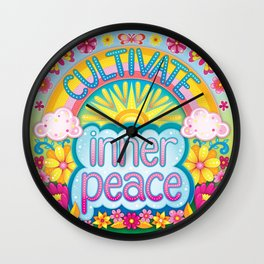 Cultivate inner peace Wall Clock