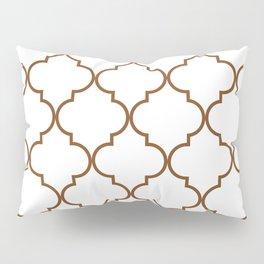 Quatrefoil - tawny brown Pillow Sham