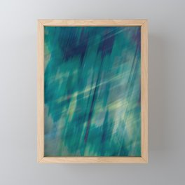 Submerge Aqua Framed Mini Art Print