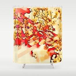 gypsophila abstract Shower Curtain
