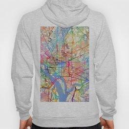 Washington DC Street Map Hoody