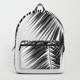 Black Palm Leaves Dream - Cali Summer Vibes #2 #tropical #decor #art #society6 Backpack