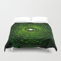 gondor Duvet Covers featuring Green Lantern by Electra