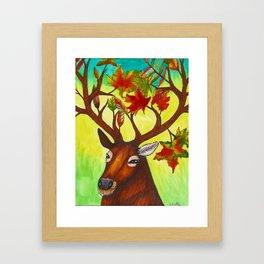 Elk of Autumn Framed Art Print