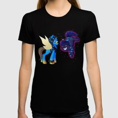 Mad T Ponies 'Absolem and Chesshur' Womens Fitted Tee Black X-LARGE