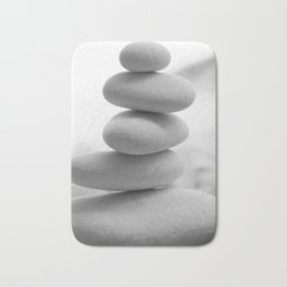 Zen beach rocks print, balancing roks Beach decor art print Bath Mat