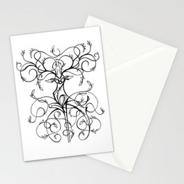 Deer Demask Stationery Cards