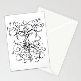 Deer Demask Stationery Cards
