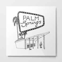 Palm Springs Metal Print