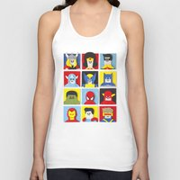 heroes Tank Tops featuring Felt Heroes by Jacopo Rosati