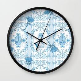 Marie-Antoinette Monogram (Aqua) Wall Clock
