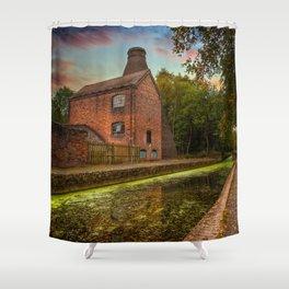 Coalport Bottle Kiln Sunset Shower Curtain