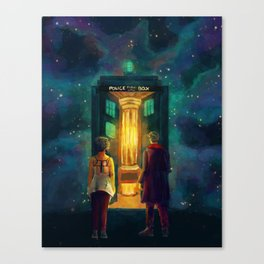 The Doctor, Bill and the kitchen Canvas Print