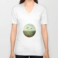 wind V-neck T-shirts featuring Wind by strentse