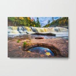 Mandio Falls - Porcupine Mountains Metal Print