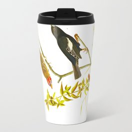 Lark Finch, Prairie Finch, Brown Song Sparrow Travel Mug