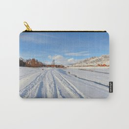 winter panorama of the village Carry-All Pouch