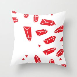 Red Crystals Throw Pillow