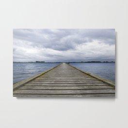 Middelfart, Denmark, pier by the water Metal Print