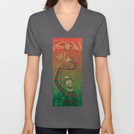 One, Two, Freddy's Coming For You Unisex V-Neck