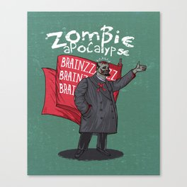 Zombie Lenin Canvas Print