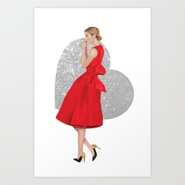 Hearts on Fire Art Print