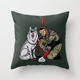 Snake Dogwalker Throw Pillow