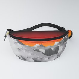 Mountains POV Ray Tracing Fanny Pack