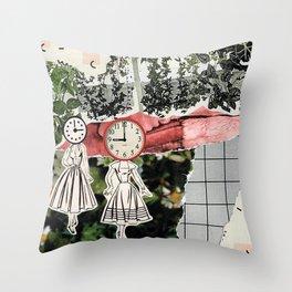 Clocks for Heads Throw Pillow