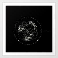 chrono trigger Art Prints featuring Chrono by Adrian Emanuel