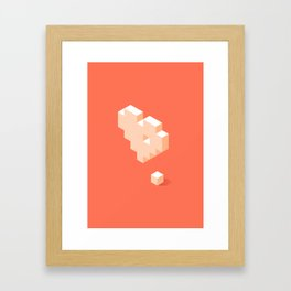 Missing Piece Framed Art Print