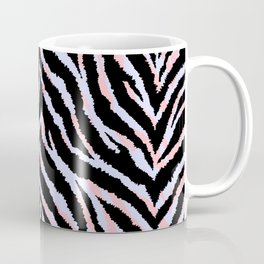 Pastel zebra fur texture - peachy and blue Coffee Mug