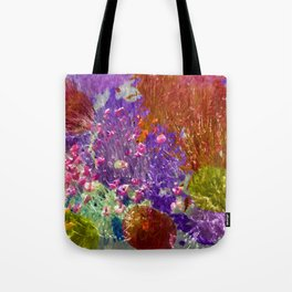 Painted Fields of Flowers Tote Bag