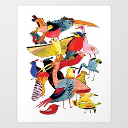 Bird Group Art Print