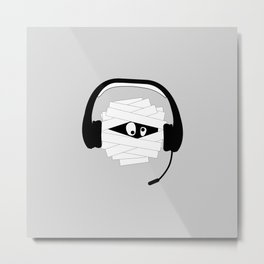 Mummy Gamer Metal Print